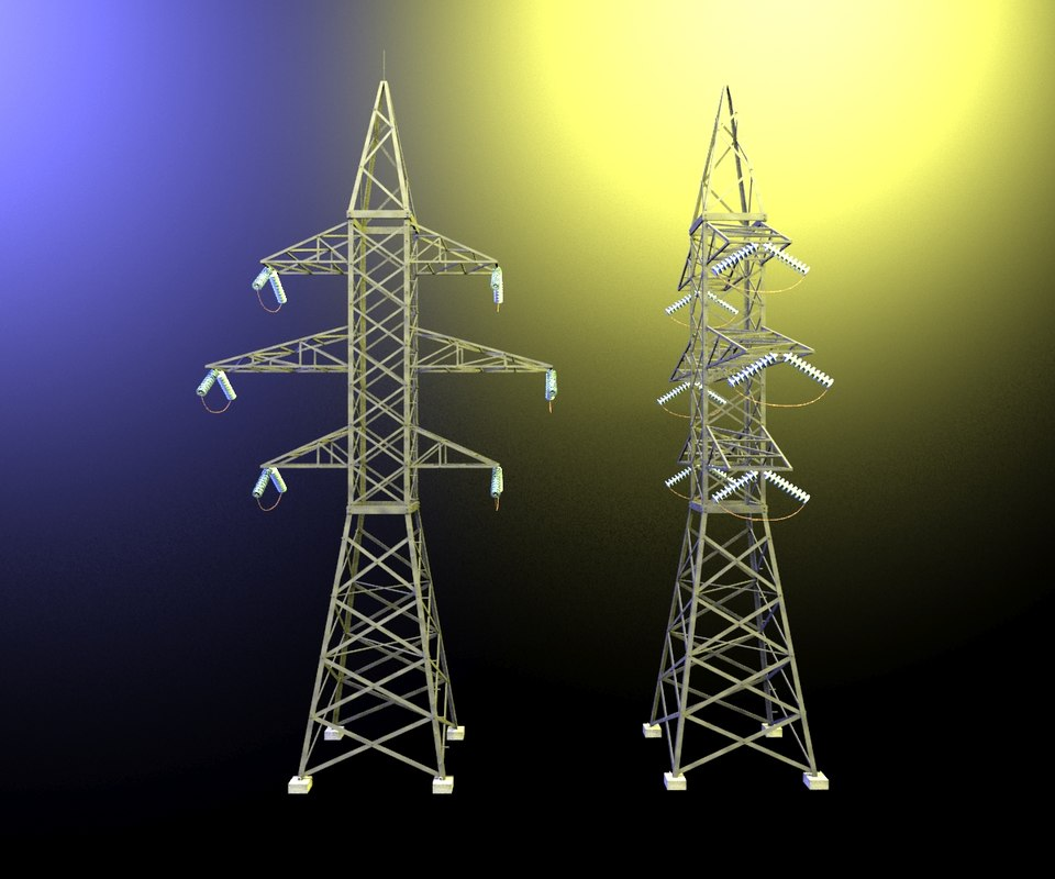 3d model electrical transmission tower