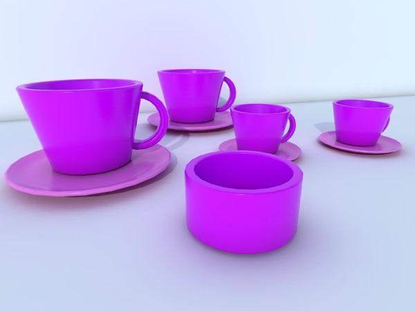 tea set 3d model