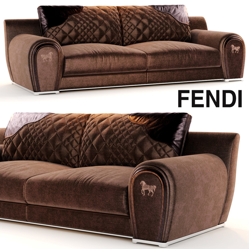 Sofa Varenne Fendi 3d Model