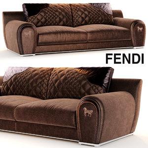 sofa varenne fendi 3d model