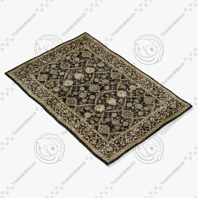 3d model of loloi rugs my-06 espresso