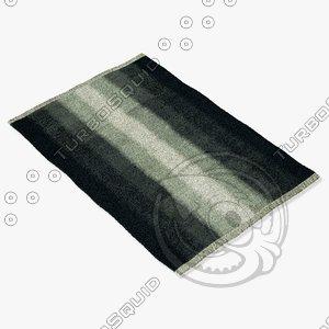 3d model loloi rugs sa-06 charcoal
