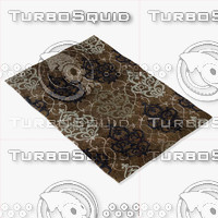 loloi rugs ya-05 brown 3d model