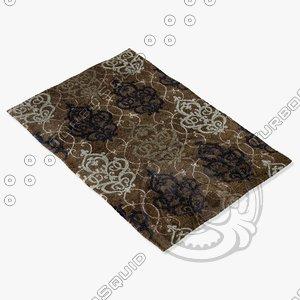 loloi rugs ya-05 brown 3d model