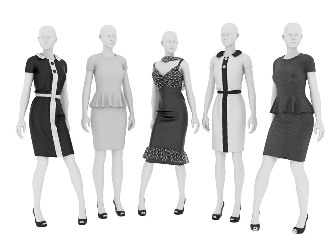 3d model dresses mannequin
