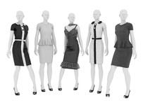 Female mannequins in dresses_01