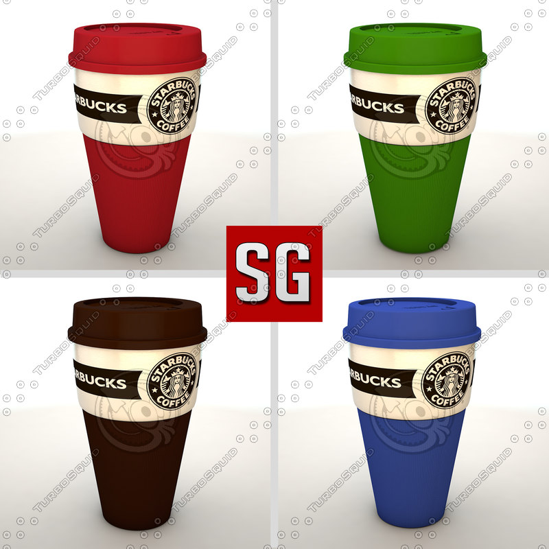 c4d starbucks mug coffe
