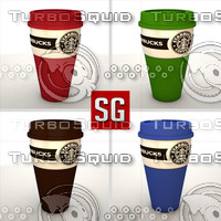 c4d starbucks mug coffe