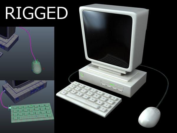 rigged computer cartoon 3d obj