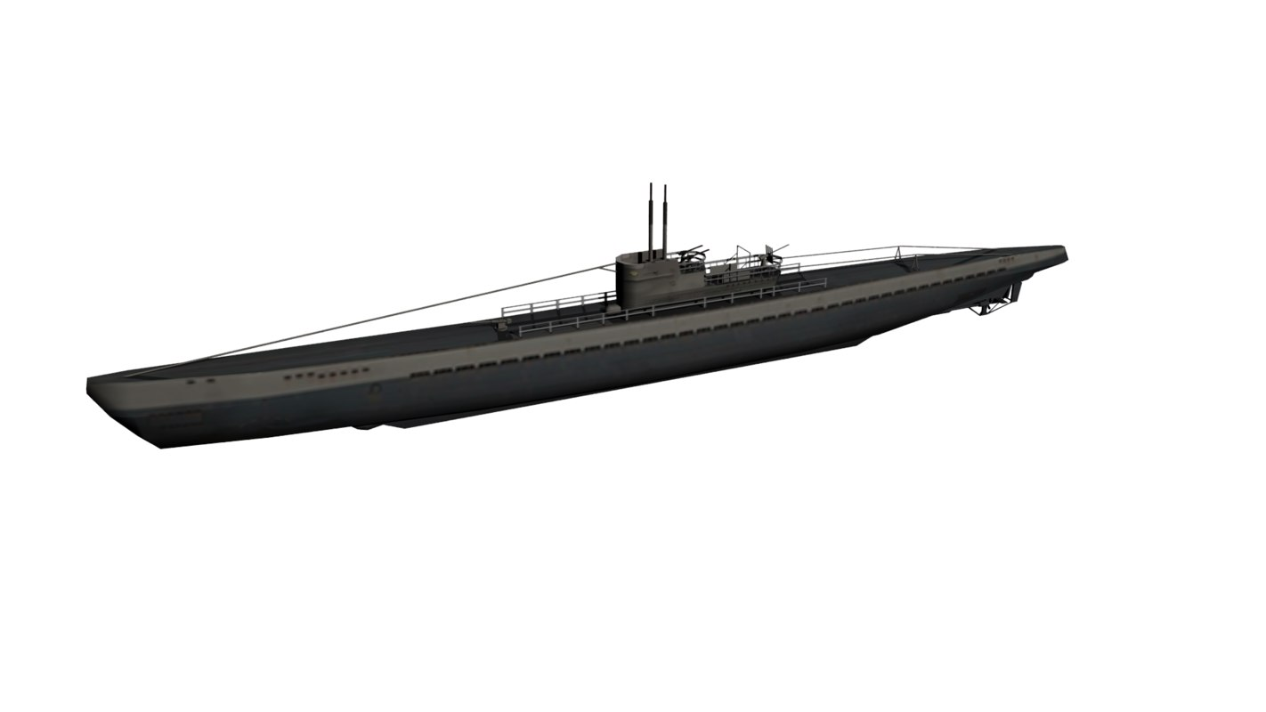 3d model german u-boat ix