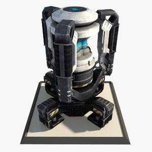 3ds max futuristic sci fi engine
