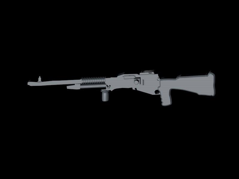 3d hotchkiss gun model