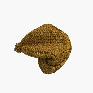 knitted winter hat 3d max