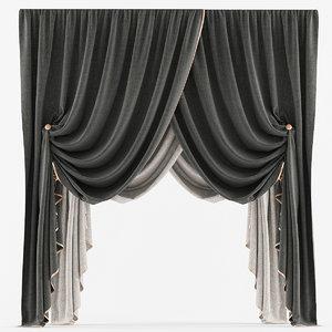 curtain classic 3d max