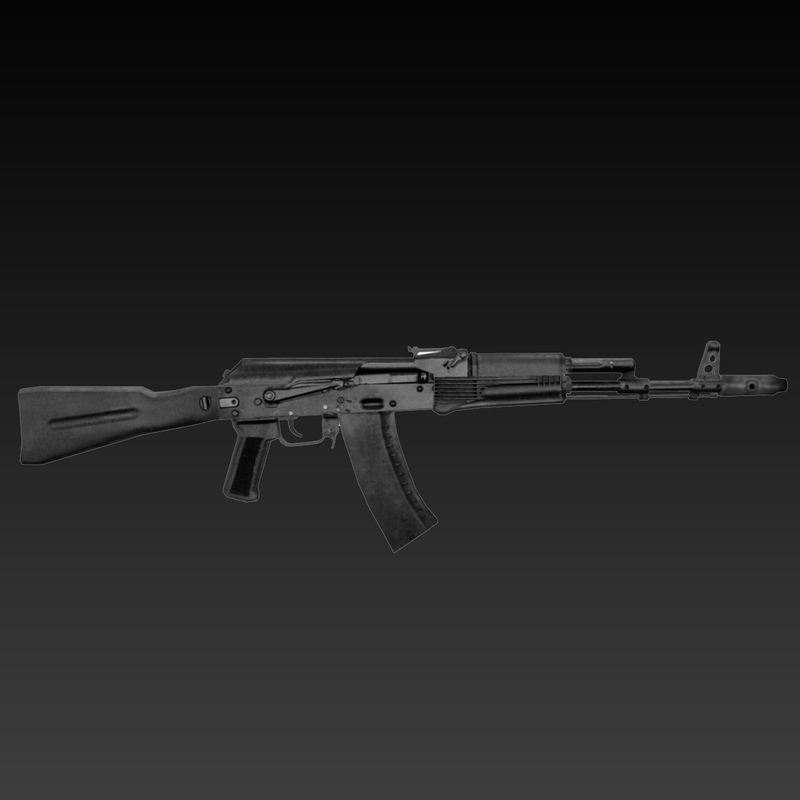 free obj model ak-74 assault russian
