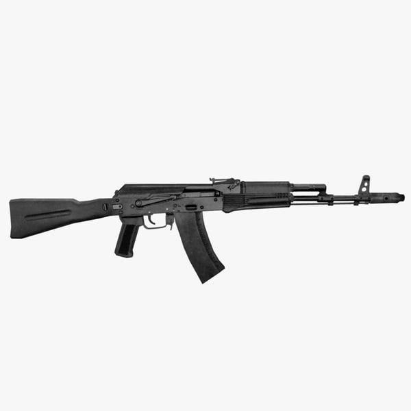 free obj model ak-74 assault russian