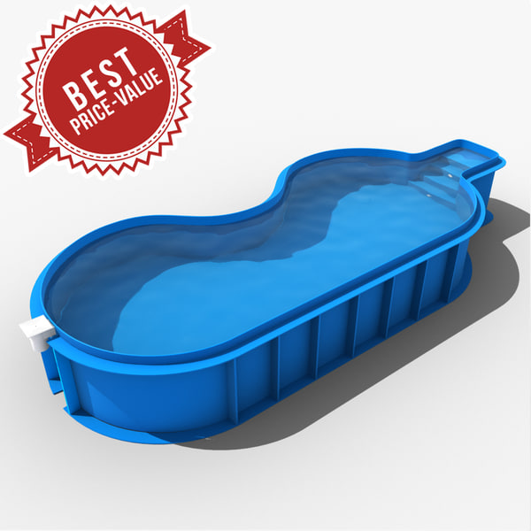3d model garden swimming pool