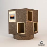 3d model promemoria revolving bookcase meryl