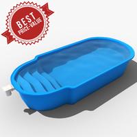 garden swimming pool 3d model
