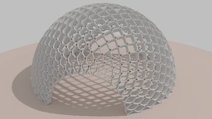 3d model abstract artistic dome