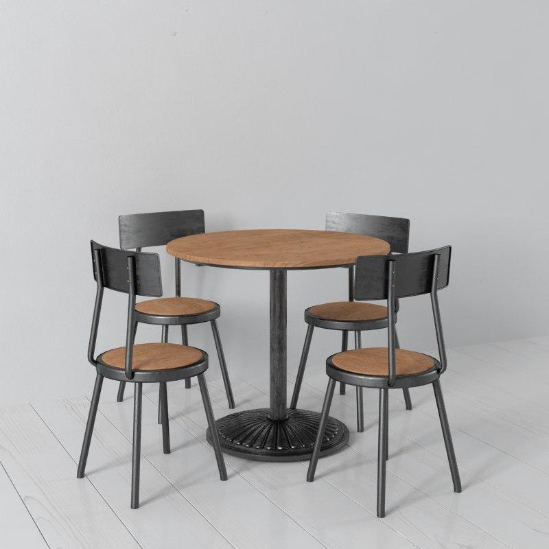wood metal 3d model