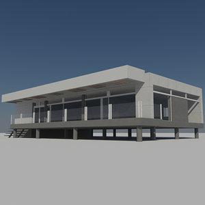 3d - futuristic housing 5