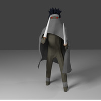 games cape rigged 3d obj