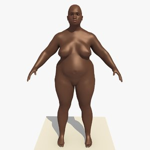 realistically african woman rigged 3d model