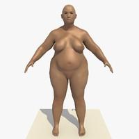 Rigged Asian Fat woman (Agatha)