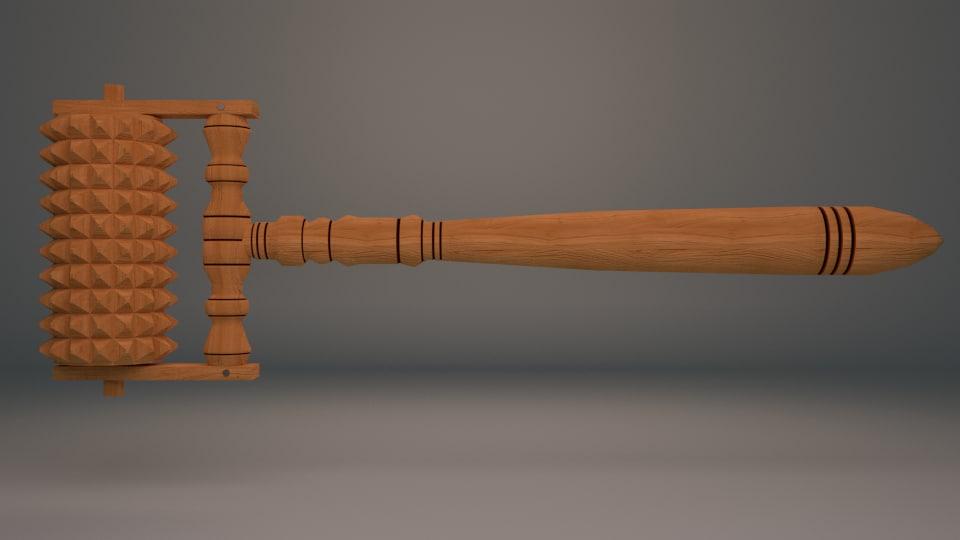 3d model russian wood tool