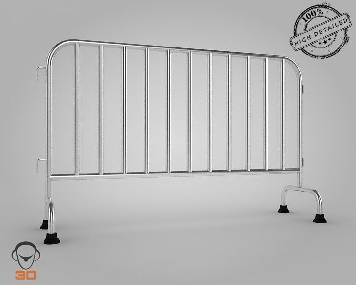 3d road barrier model