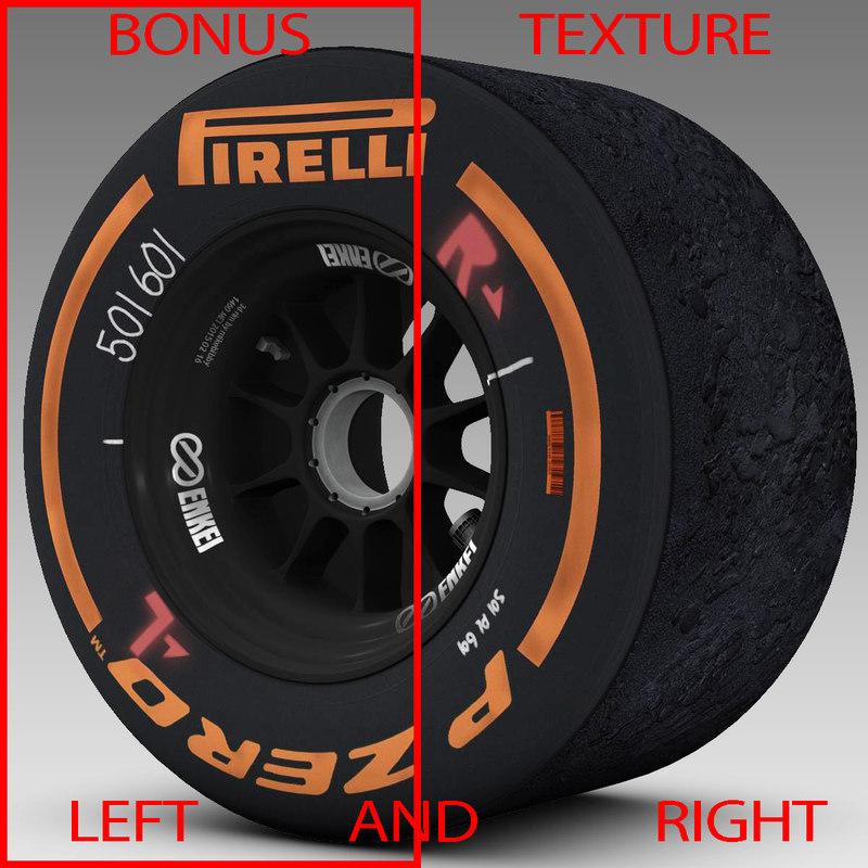 3d model pirelli tyre enkei