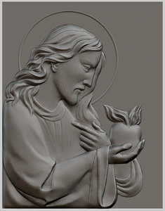 relief sculpture jesus christ 3d model