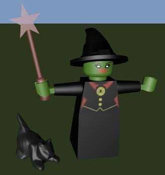 LEGO Witch Character (rigged)