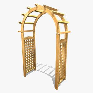 3d model arbor pergola lattice