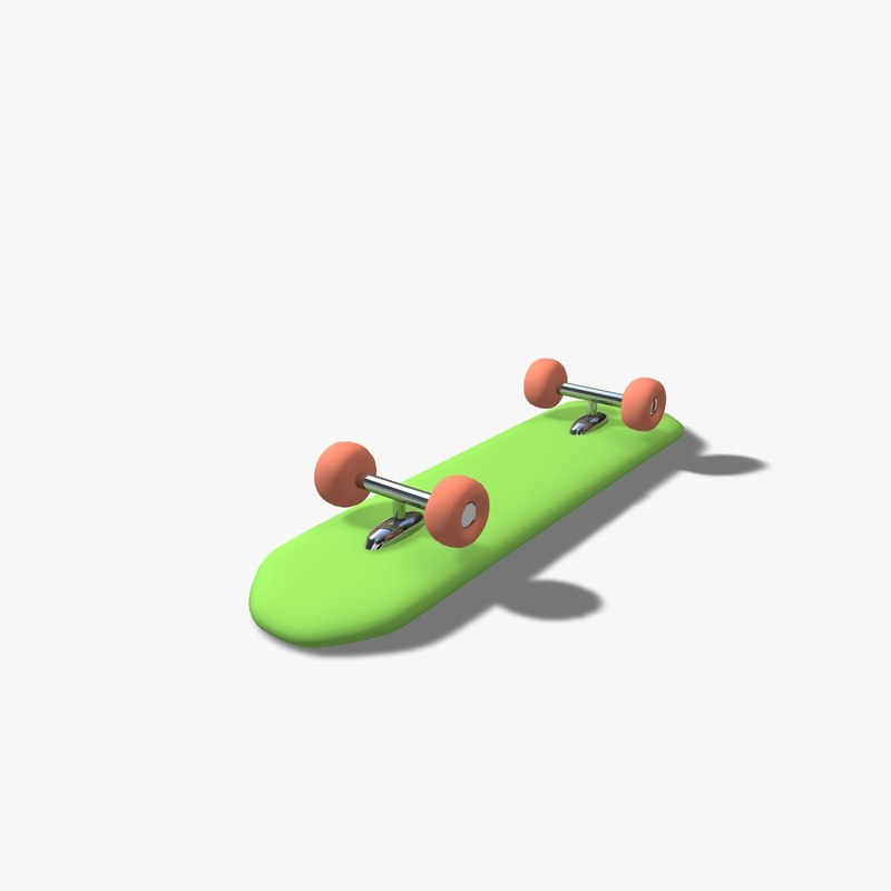 cartoon toon skate 3d c4d