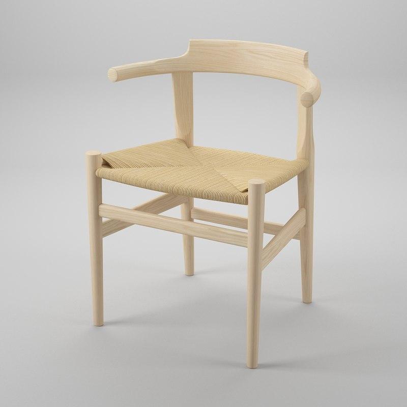 dwg pp 68 chair hans j
