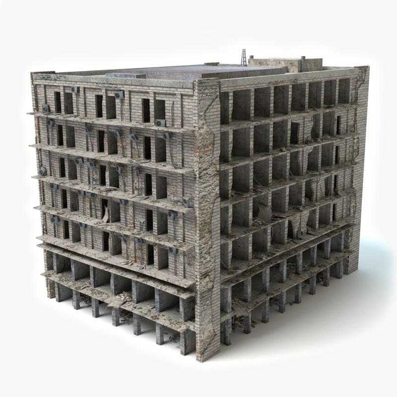 destroyed building 3ds