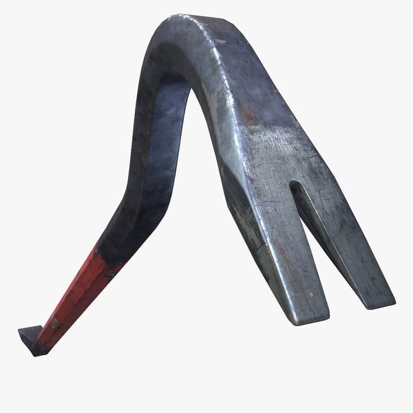 3d ready low-poly crowbar games model