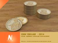 3d 1 dollar coin
