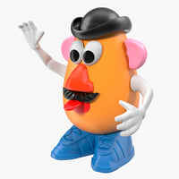 mr potato head 3 3d model