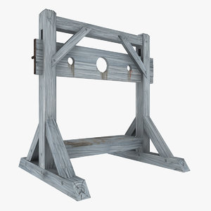 medieval pillory 3d max
