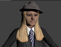 Jill - Rigged - Blonde in Suit and Hat