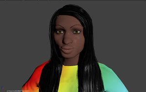 free rigged fading spectrum t-shirt 3d model