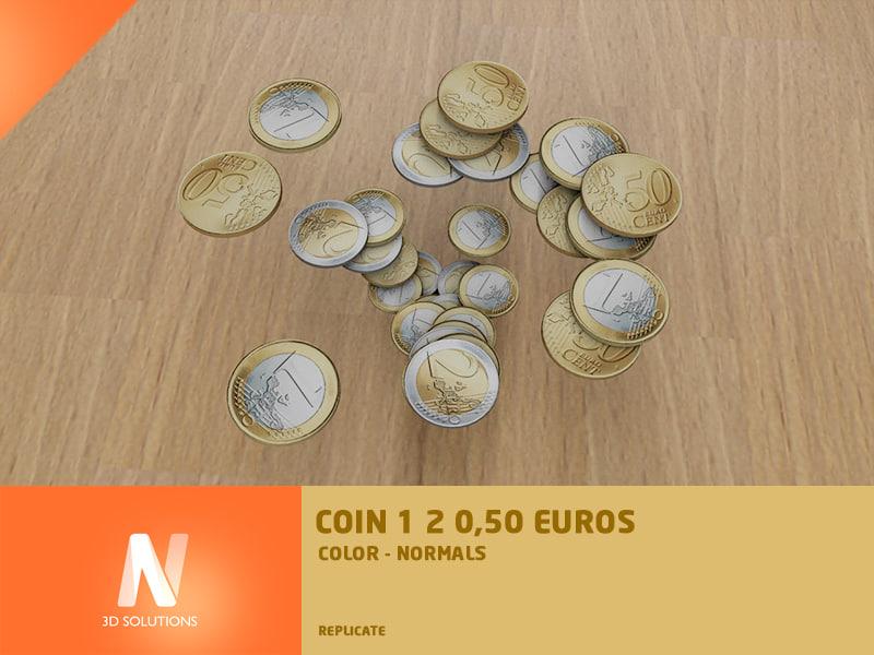 3d euro coins