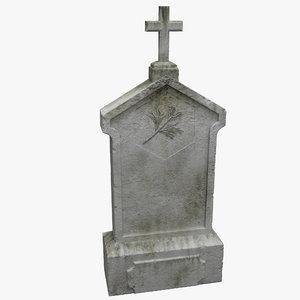 3d gravestone grave