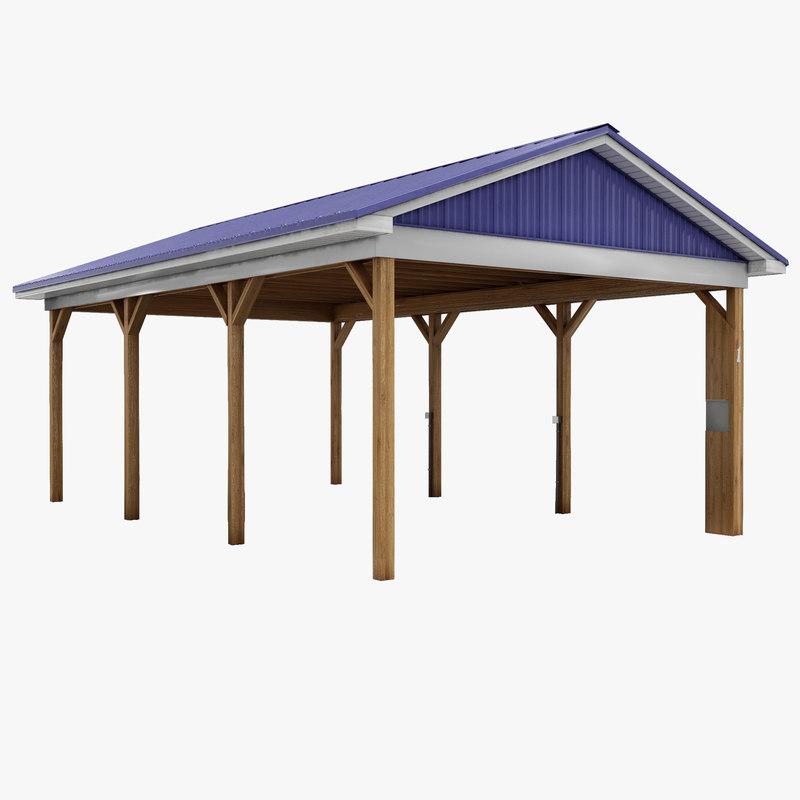 3dsmax picnic pavilion