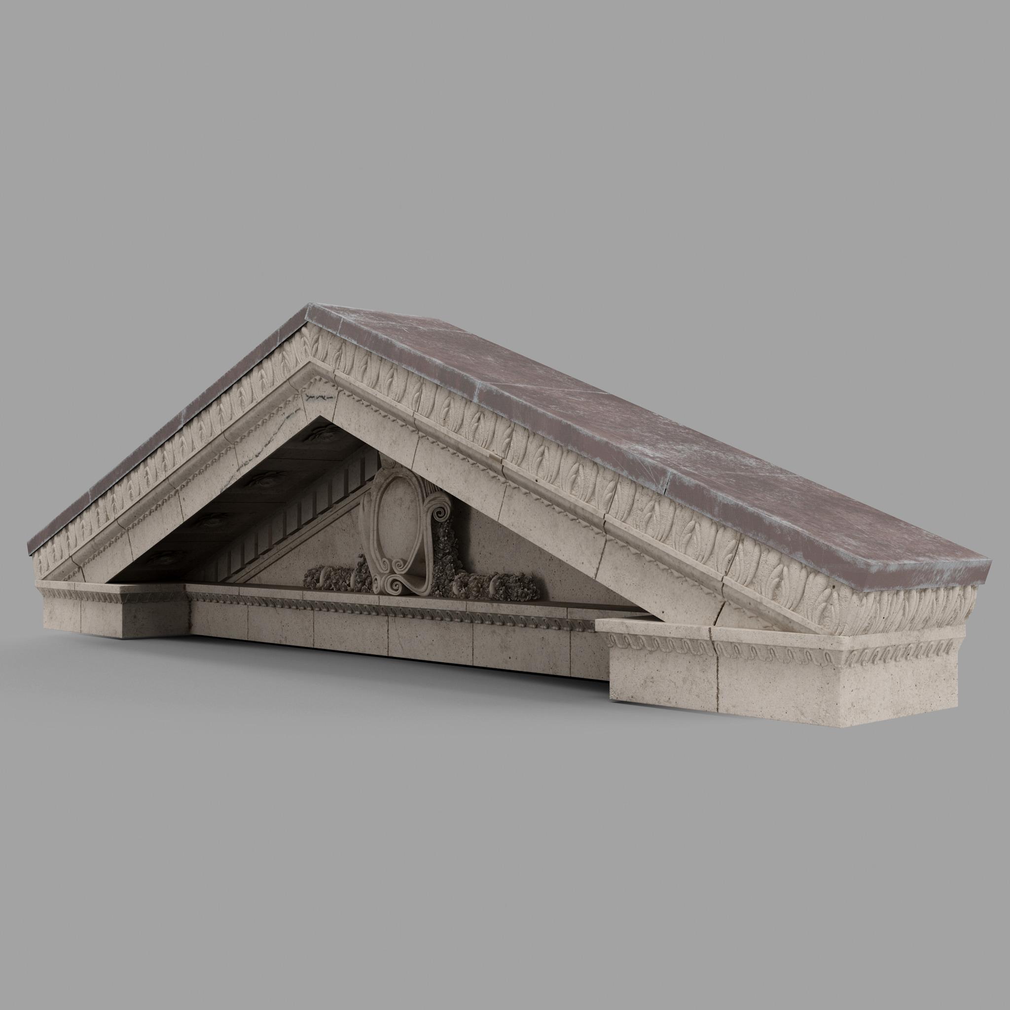 3d model pediment