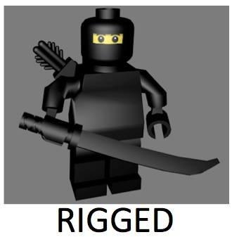 c4d lego ninja character rigged