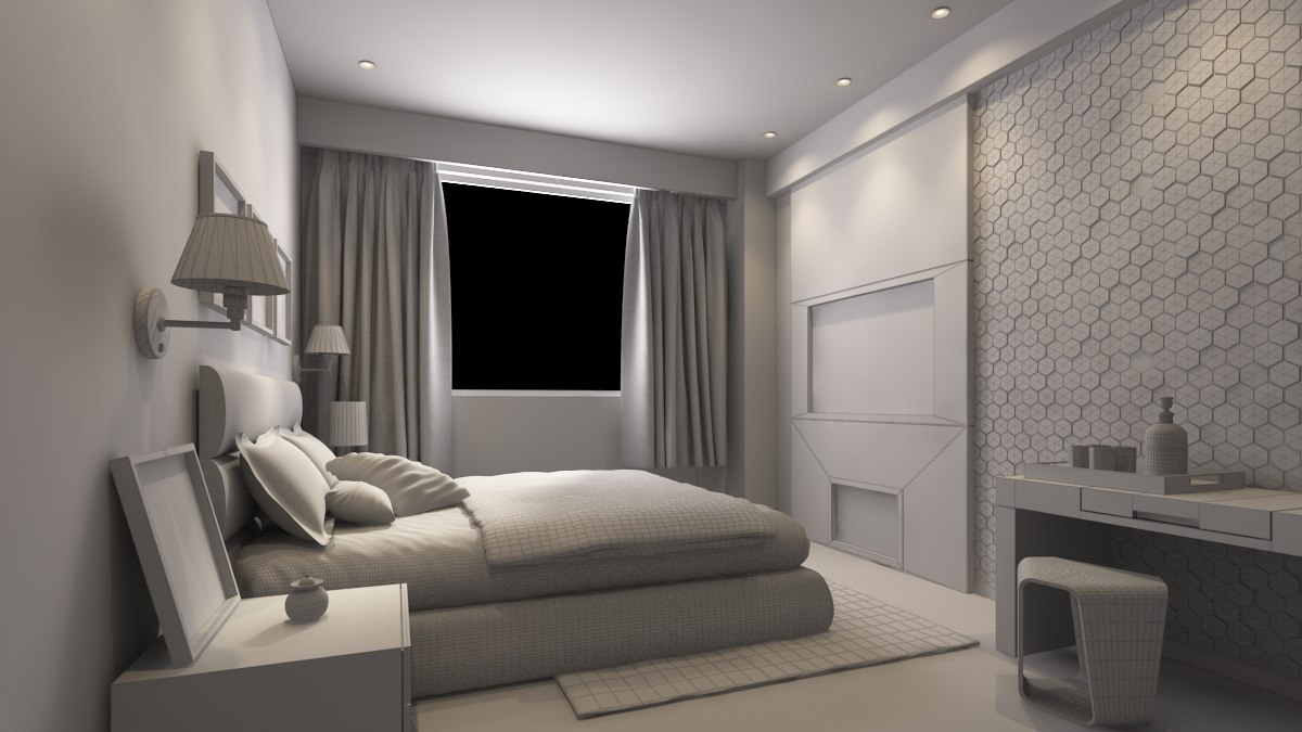 max bedroom modeled